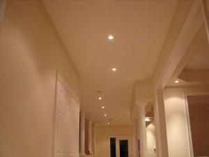 Hallway potlight layout example